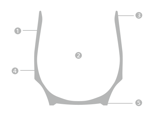 香酒盃断面図